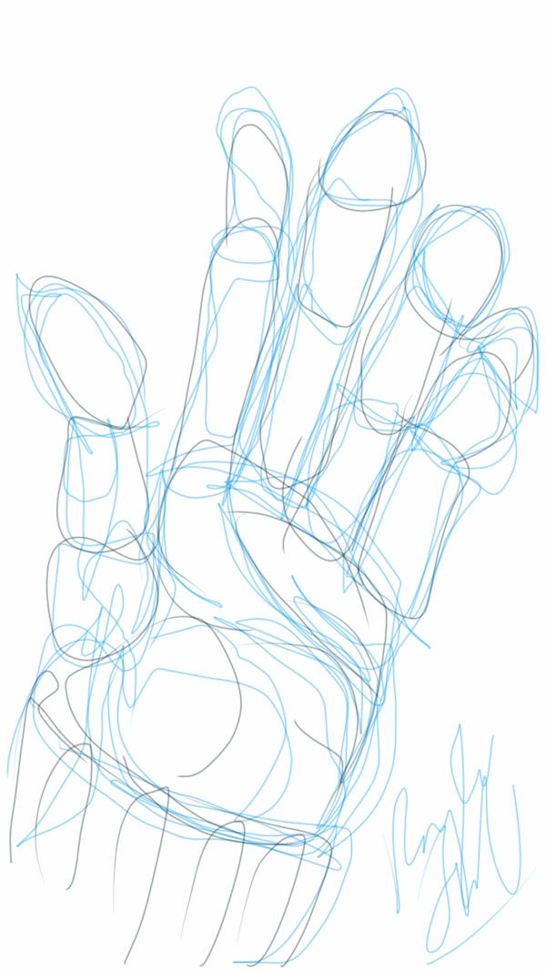 Blind Contour Hand Drawing by Kitten-Hachi-chan on DeviantArt