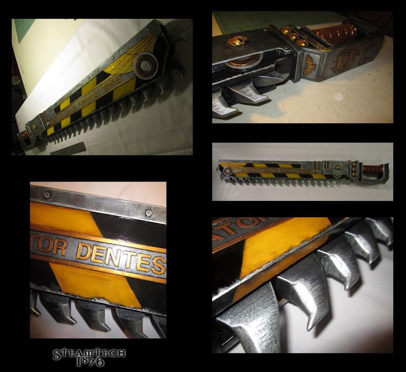 Warhammer 40k Chainsword Details by Renquist-von-Reik