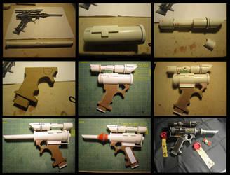Galvian Needler Pistol - Progress Shots by Renquist-von-Reik