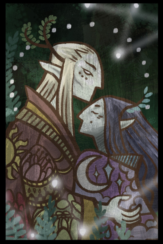 Elven lovers by Bishyn