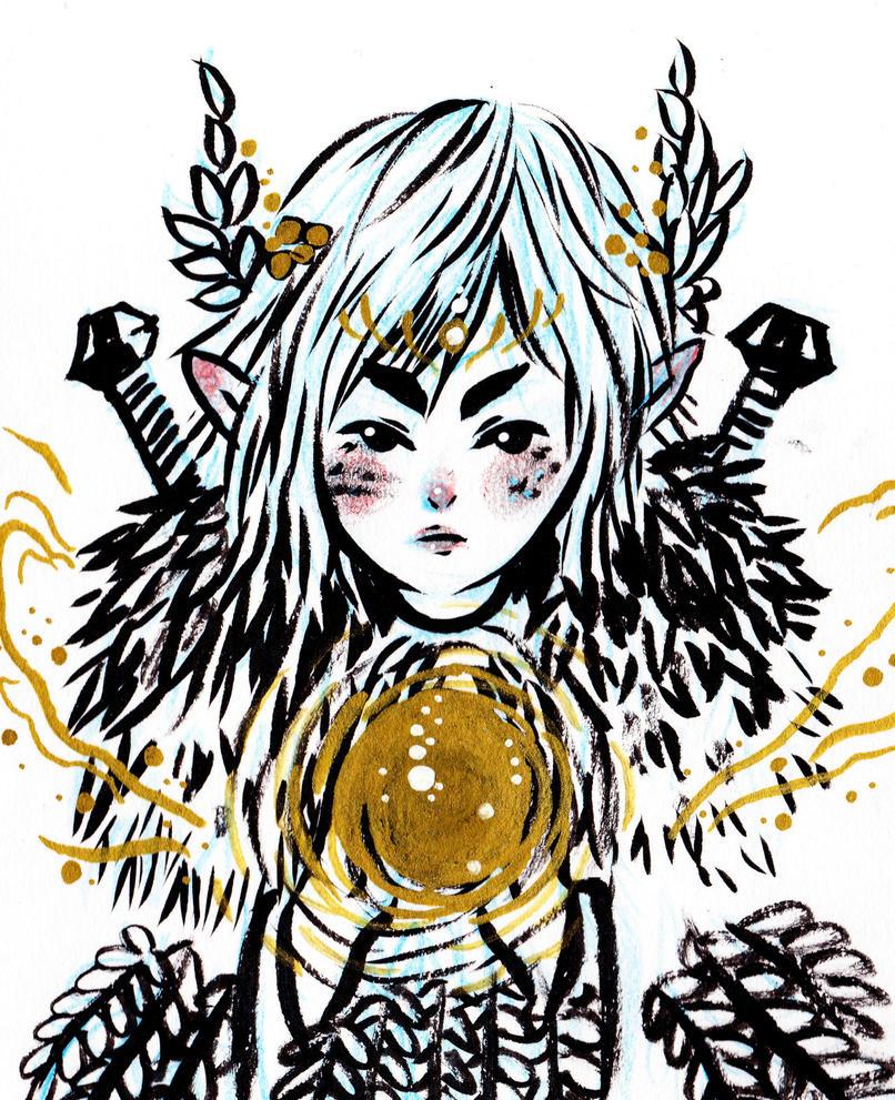 warrior maiden by Bishyn