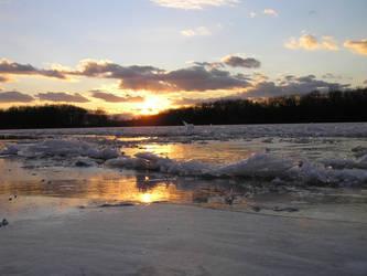 Susquehanna Ice III by arkansawyer