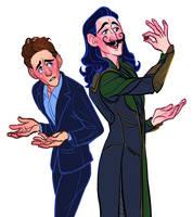 Tom and Loki Redraw by heartbroken-girl