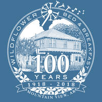 Wildflower Bed and Breakfast 100 Year T-shirt logo