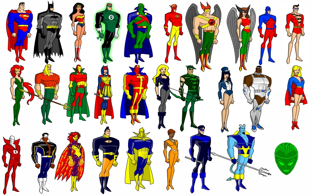 Cartoon Characters Justice League : Justice league cartoon characters list adultcartoon