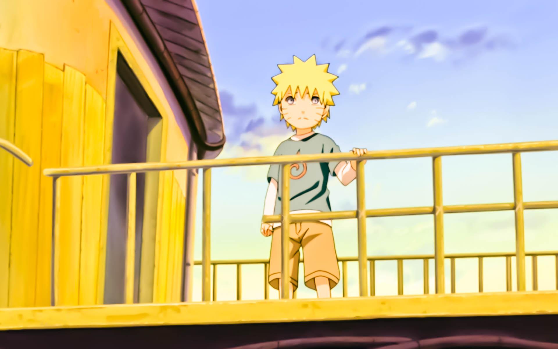 Naruto Kid on a Bridge Widescreen Wallpaper by psy5510Little Kid Naruto