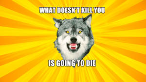Courage Wolf Widescreen What doesn't kill you...