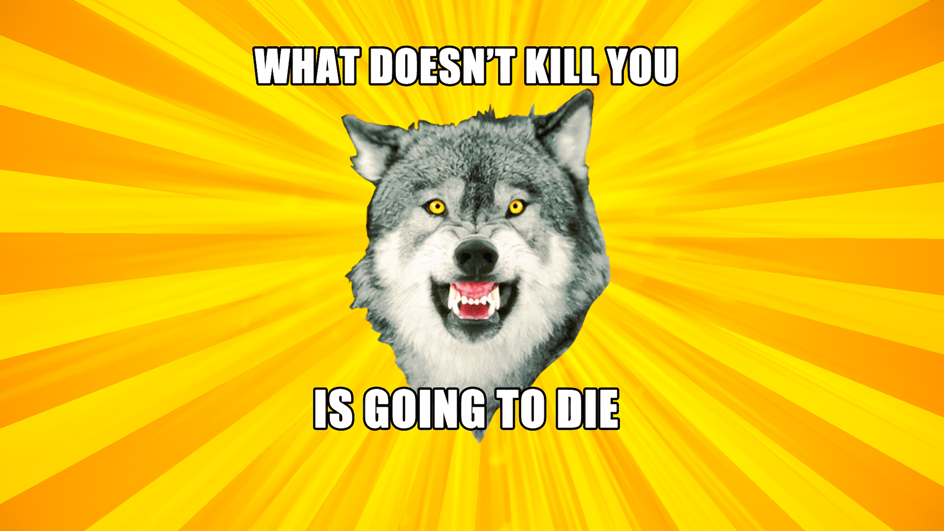 Courage Wolf Widescreen What doesn't kill you... by psy5510
