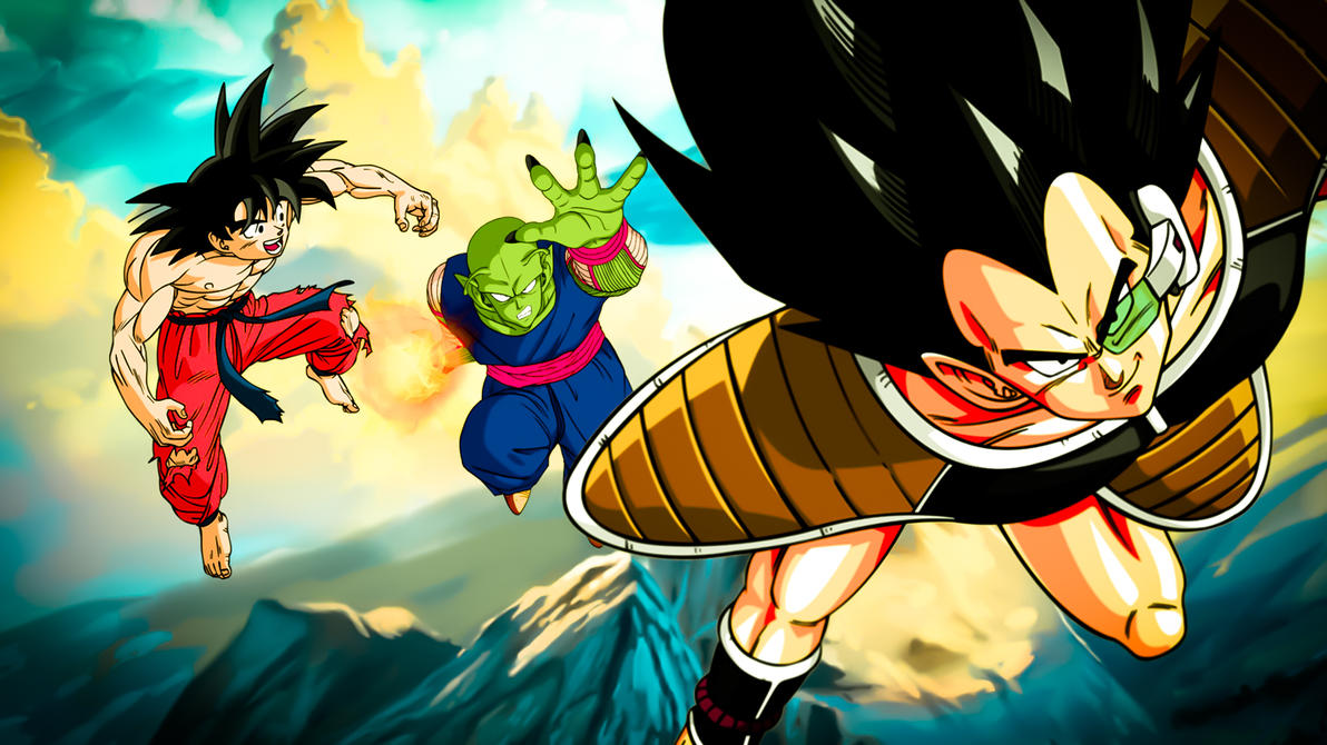 dbz raditz saga wallpaper hdpsy5510 on deviantart