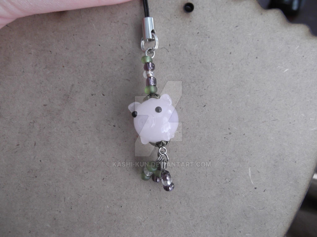 Glass Piggy phone charm by Kashi-kun