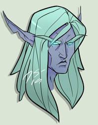 Some grumpy nelf by Alauniira