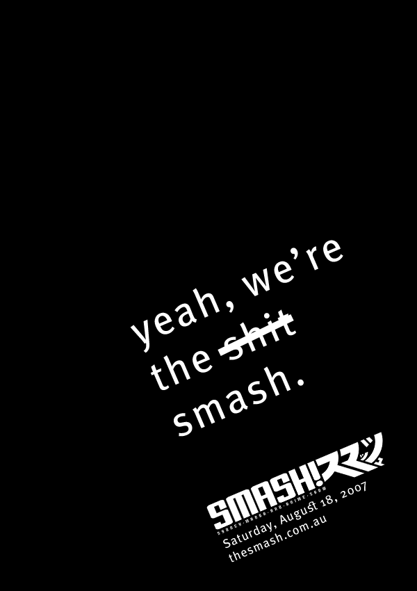 The SMASH Poster by smashmike