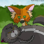 Firepaw looking after Yellowfang (Into The Wild)