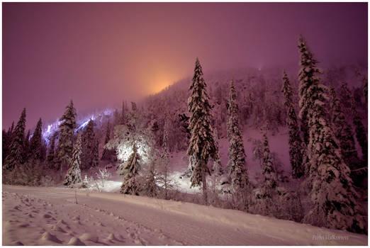 Evening Lights in Ruka