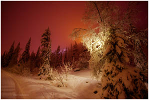 Evening Lights in Ruka II by closer-to-heaven