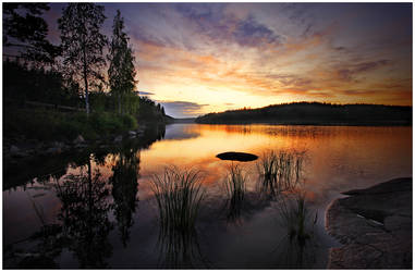 Sunset at Saimaa by closer-to-heaven