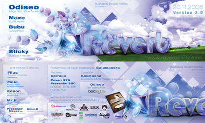 Reverb 2.0 Flyer by psikodelicious