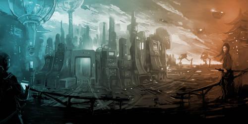 Sci Fi Landscape - Invasion