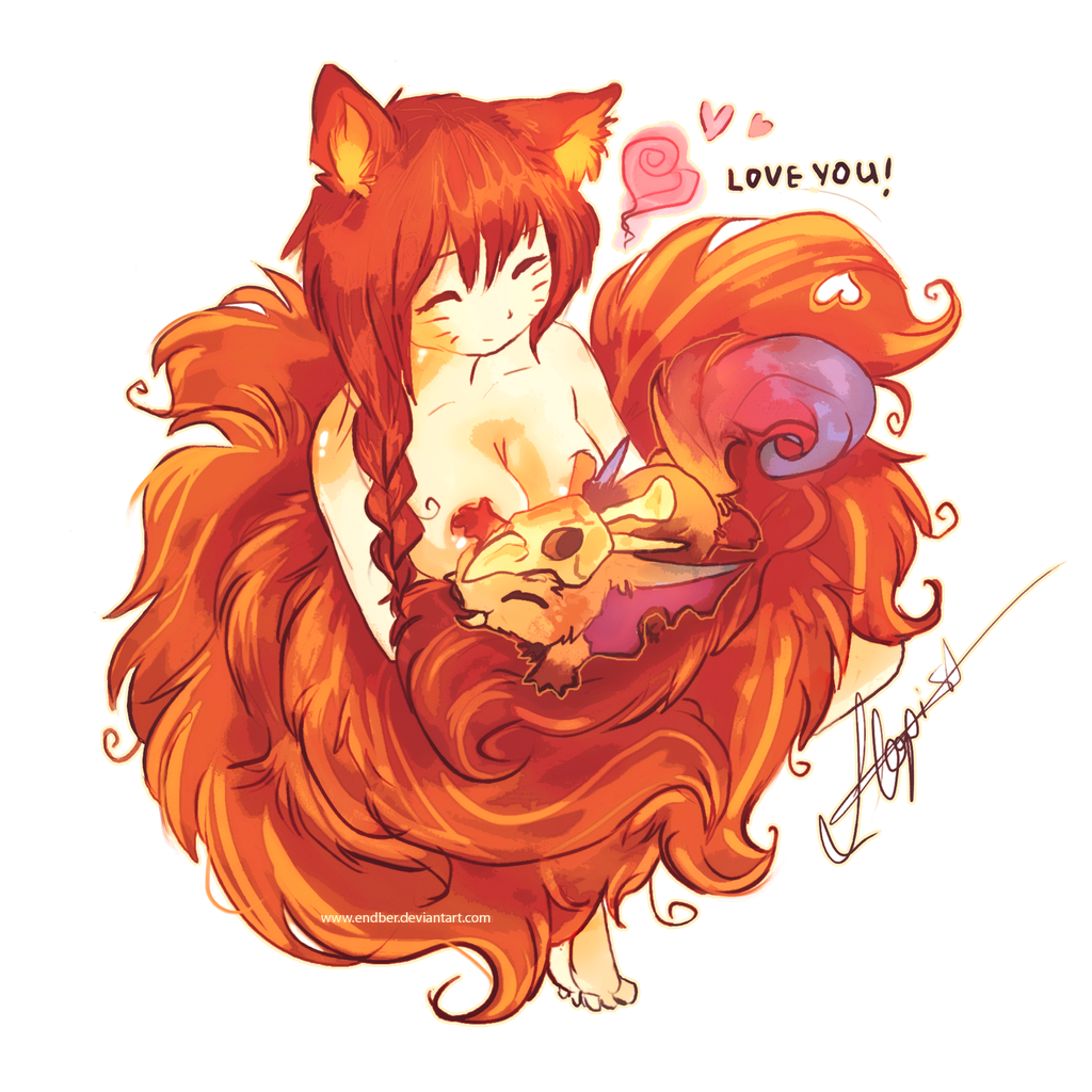 Gnar and Ahri by Endber on DeviantArt