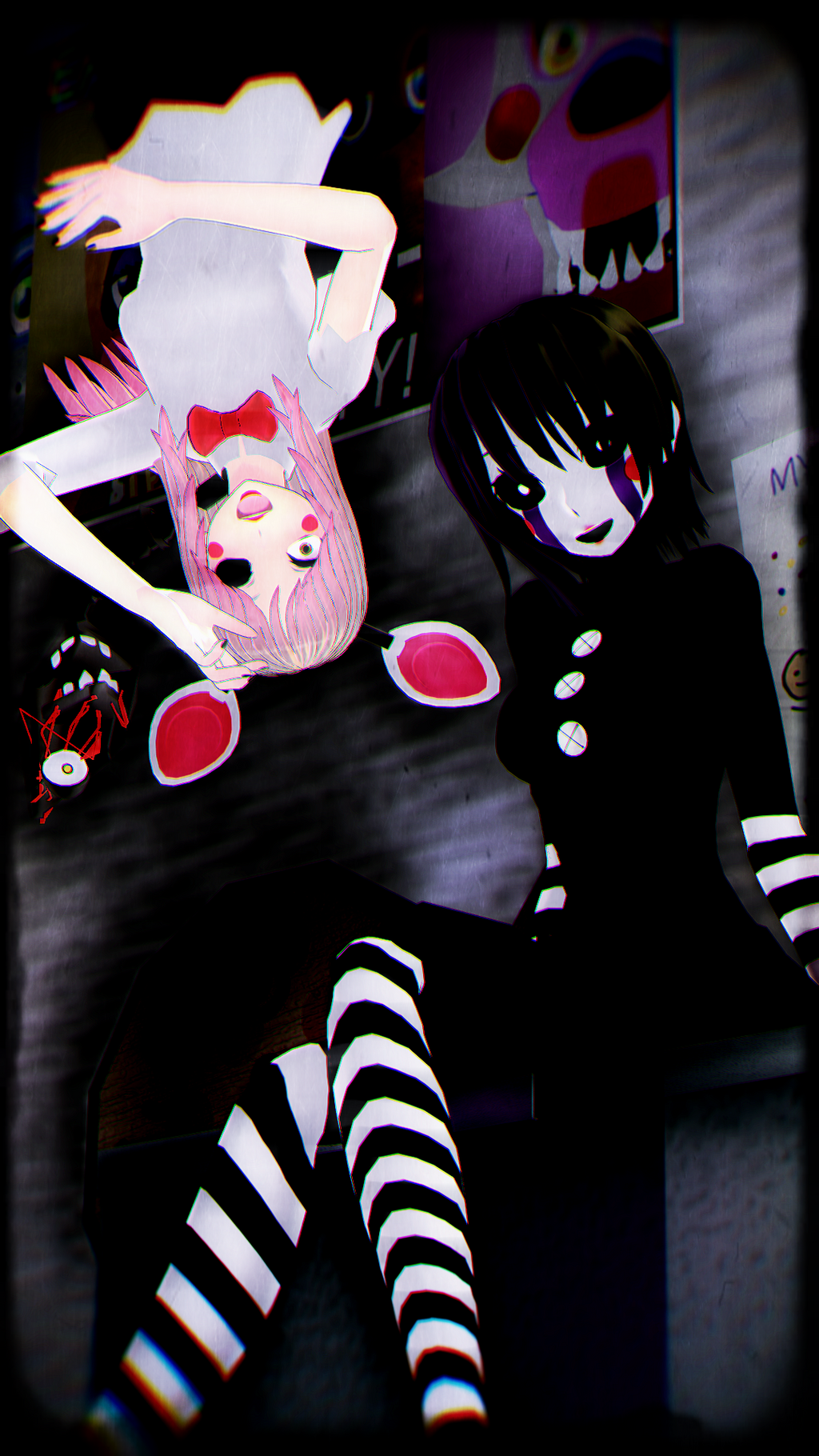 The puppet and the mangle by akafudo on deviantart