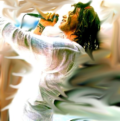 Shannon Hoon at Woodstock by quart--knee