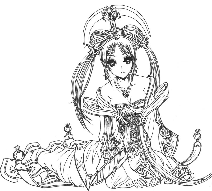 League of Legends Guqin Sona skin by zelphie00