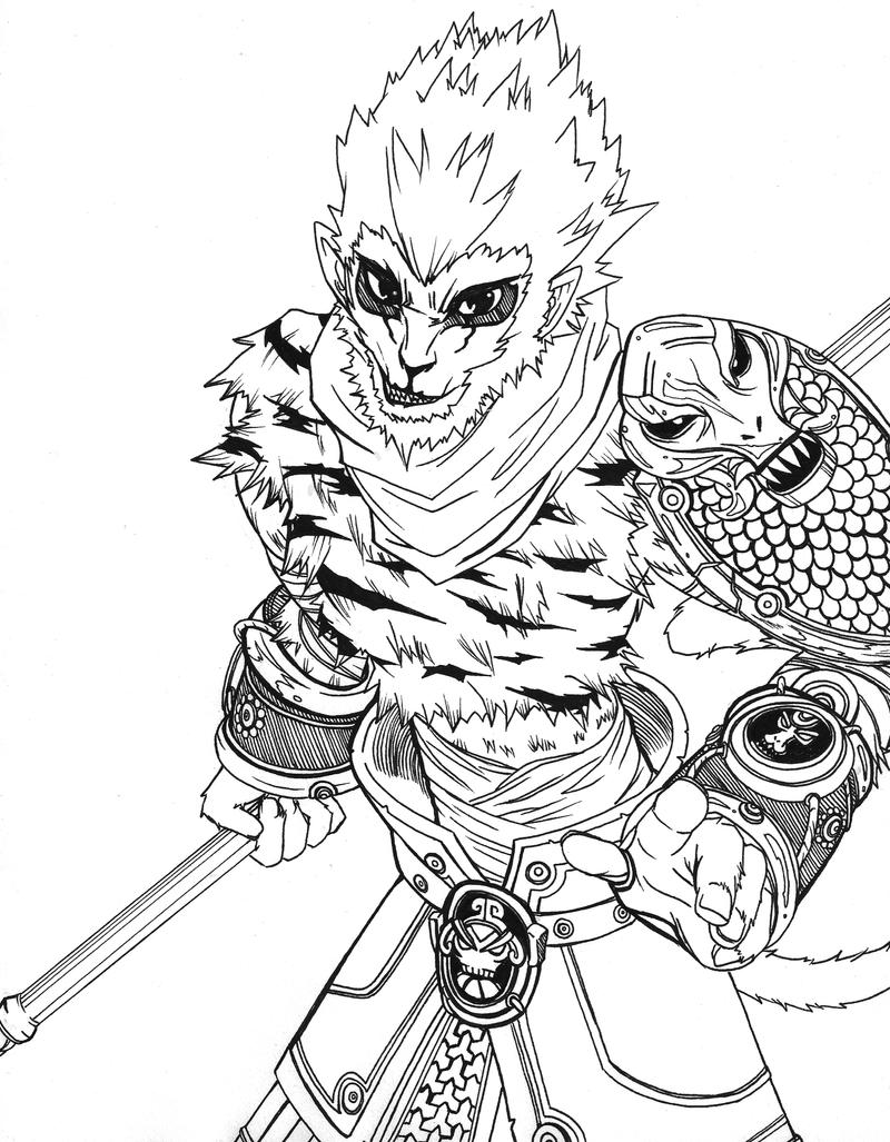 It is a photo of Striking Sun Wukong Drawing