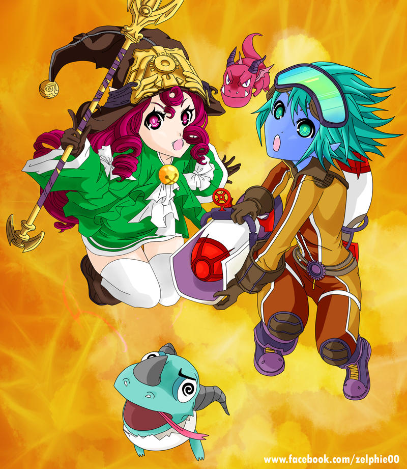 Rocketeer Tristana And Dragon Trainer Lulu wall by zelphie00 on ...