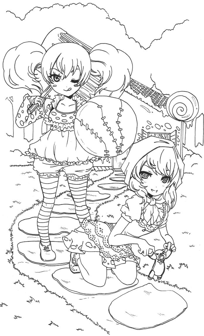Ragdoll Poppy and Red riding hood Annie Wall by zelphie00