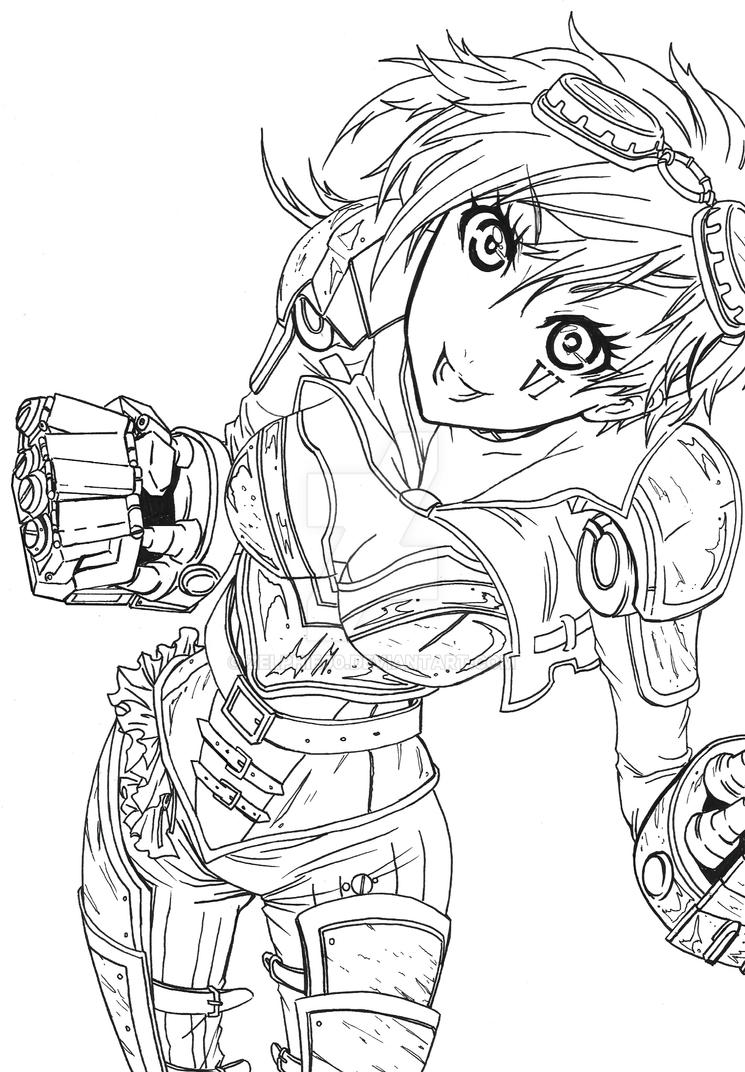 League of legends vi the piltover enforcer by zelphie00 on for League of legends coloring pages
