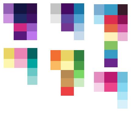 Mane 6 Color Palette by littlecupcakebases on DeviantArt