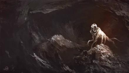 Dark-cavern-monster