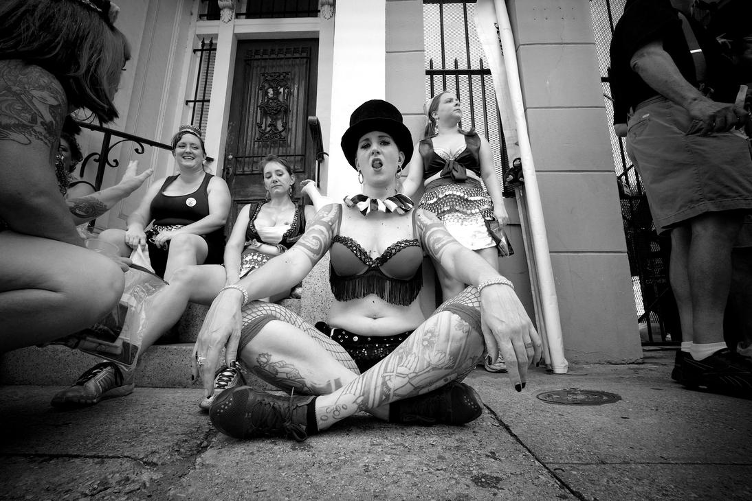 Sitting after the parade by sp1te
