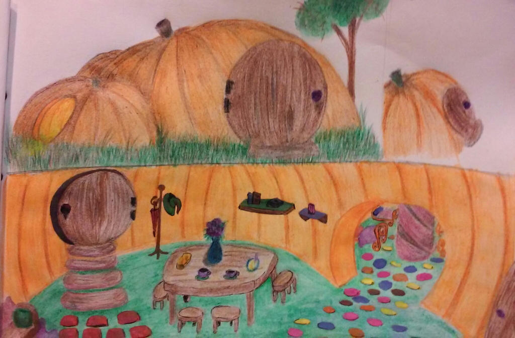 Pumpkin house by Fisnes