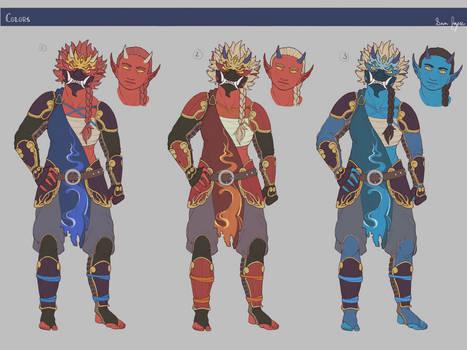 Monk: Final Designs/Color Tests