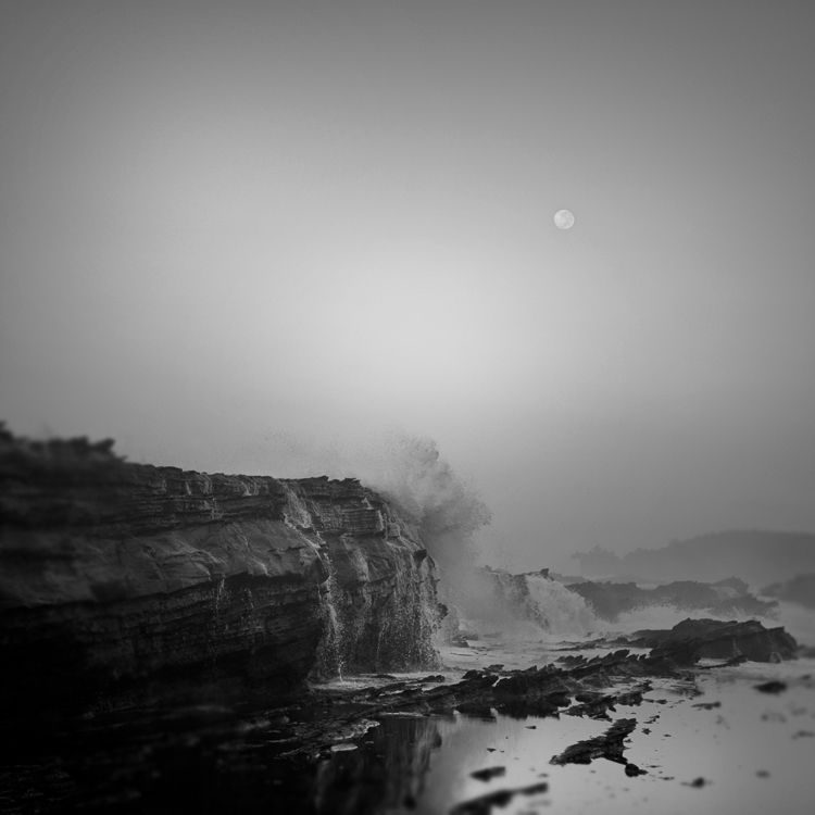 Moon Over Sawarna by Hengki24