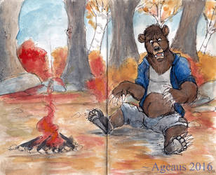 Inktober 22: Bear Necessities by Ageaus