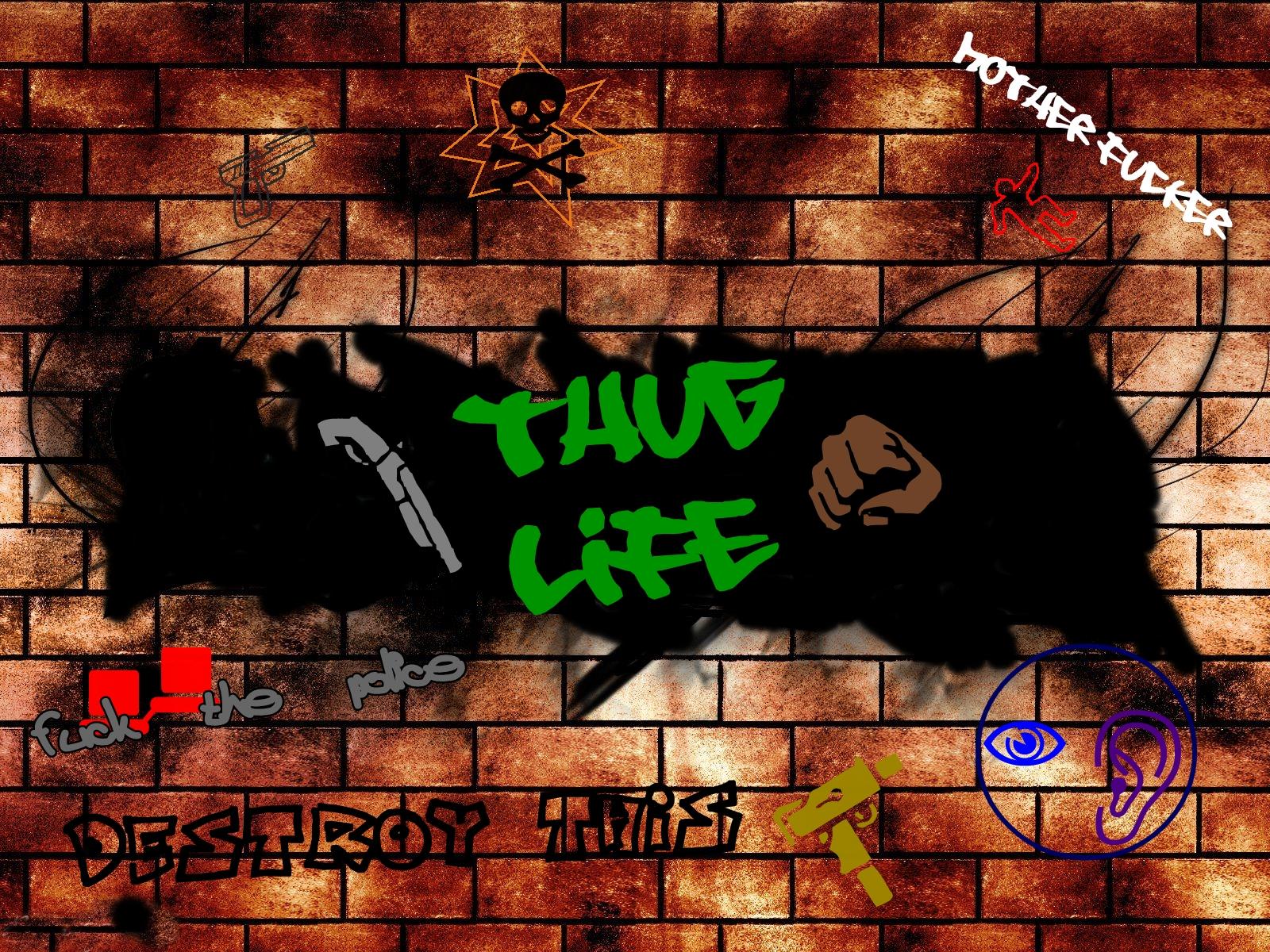Thug Life Graffiti Graffiti Thug Life by