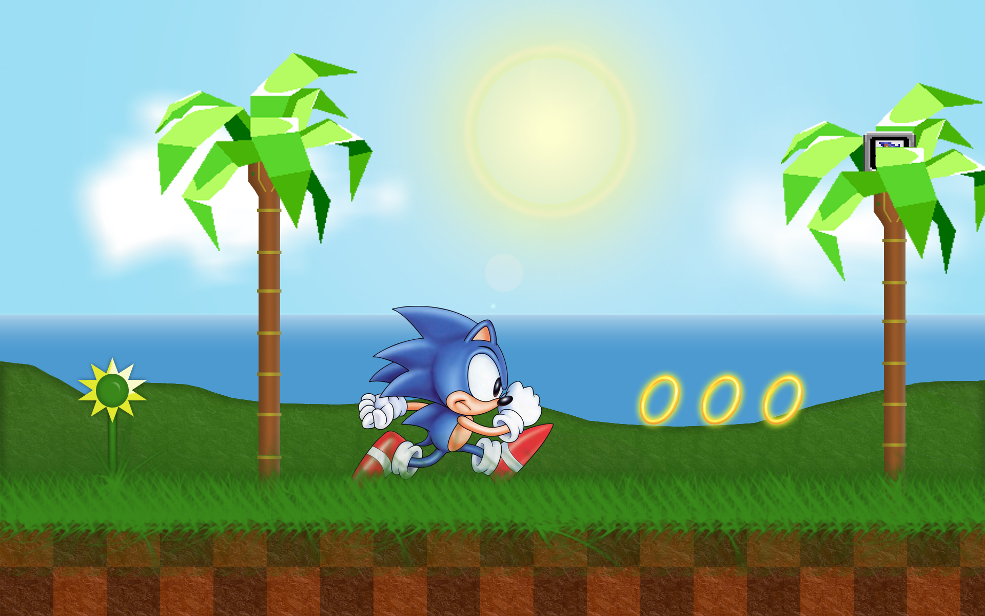 Sonic Green Hill Zone Wallpaper By Pvlimota On Deviantart
