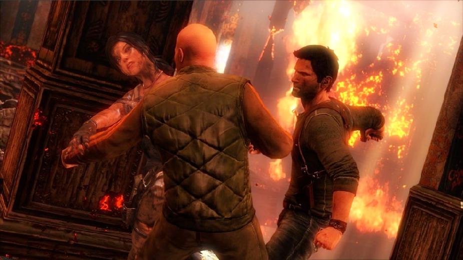 Lara Croft And Nathan Drake: Lara Croft, Nathan Drake: Through Fire And Water By Bekri2