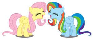 Fluttershy yay like Rainbow