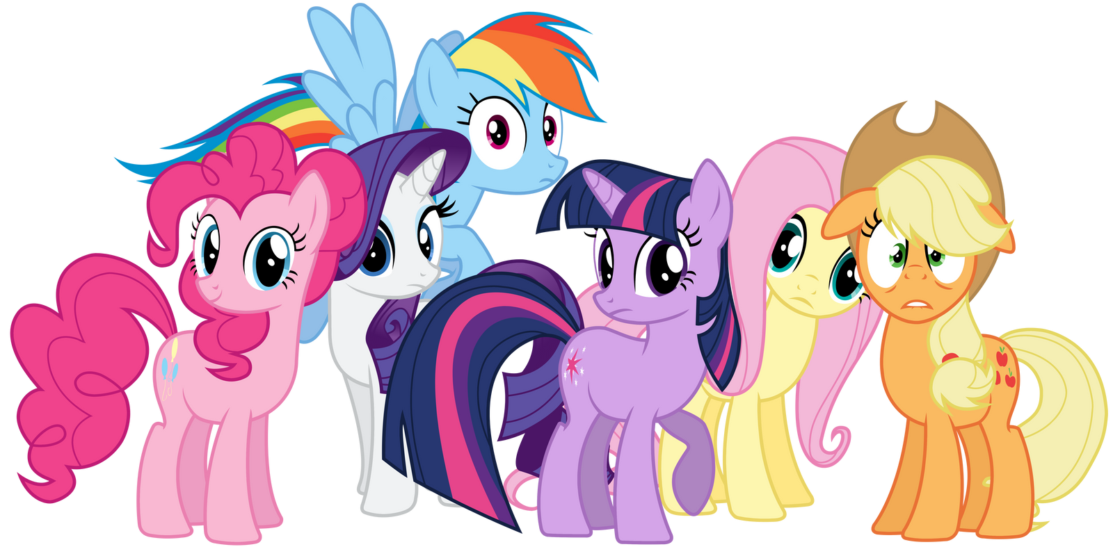 Mane 6 Looking At Us or You by TomFraggle