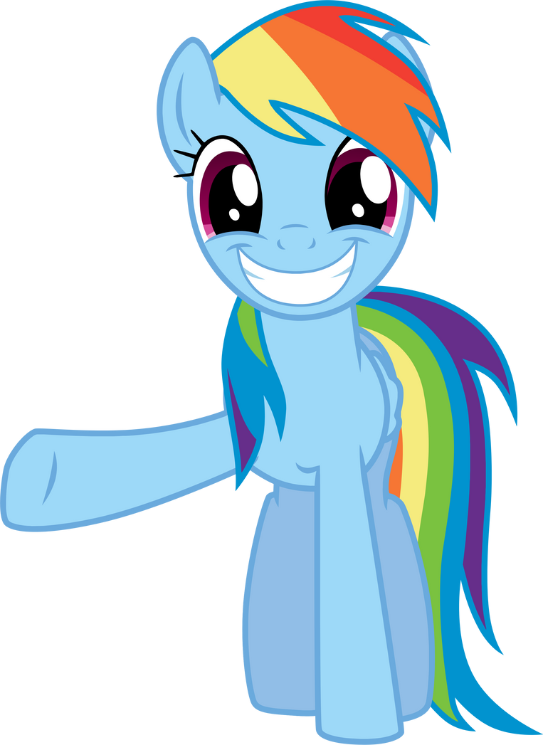 Smile And Wave - Rainbow Dash by TomFraggle on DeviantArt