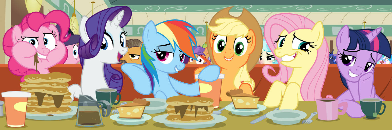 Eating At The Diner With The Mane 6