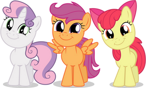 Cutie Mark Crusaders Are All Smiles