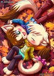 A Quick Smooch In Pile Of Leaves - Little Tails