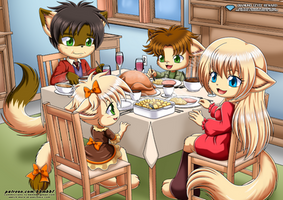 Family Thanksgiving - Little Tails by TomFraggle