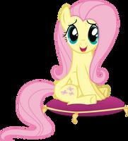 Fluttershy Sitting On A Cushion