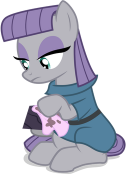 Maud Pie Cleaning Rock
