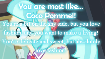 What MLP Fashion Forward Pony Are You?
